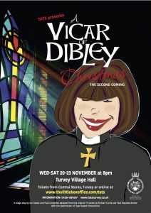 tats turvey vicar of dibley poster november 2019