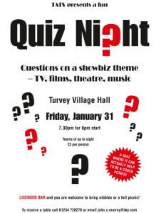 quiz night poster 2020
